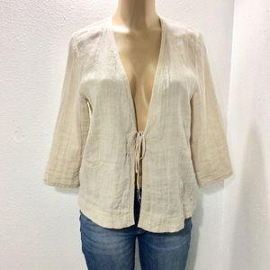 Eileen Fisher linen blend jacket
